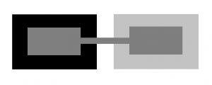 Door het framing-effect lijkt het grijze vlak in het midden verschillende kleuren te hebben. De kleur is echter gelijk.