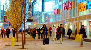 funshoppen in stads- en winkelcentrum