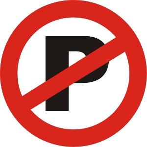 Niet parkeren, geen P