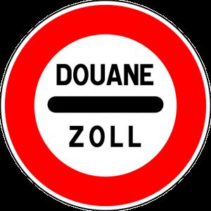Verkeersbord grensovergang