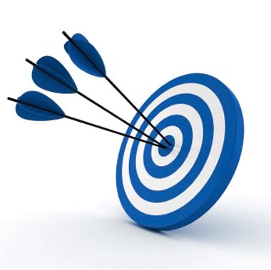 Drie pijlen in het doel. Gericht targeting op gedrag, interesses en zoekwoorden via Google Ads