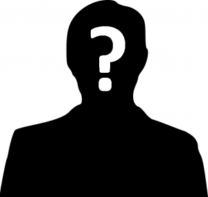 Silhouet van een man met vraagteken. Wie is je zakelijke prospect en zakelijke klant?