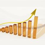 grafiek met oplopende winst door meer online conversie en verkoop met Robert Cialdini