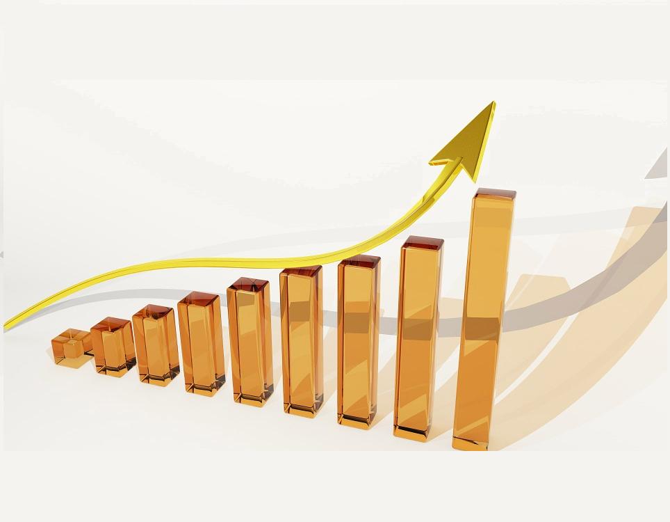 grafiek met oplopende winst