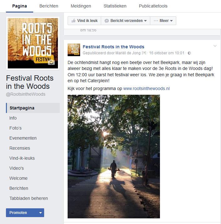 Populaire post over activiteiten achter te schermen voor Facebook Marketing