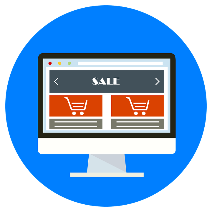 Twee winkelwagens op een beeldscherm en verlaten winkelwagen voorkomen en niet afronden bestelling webshop