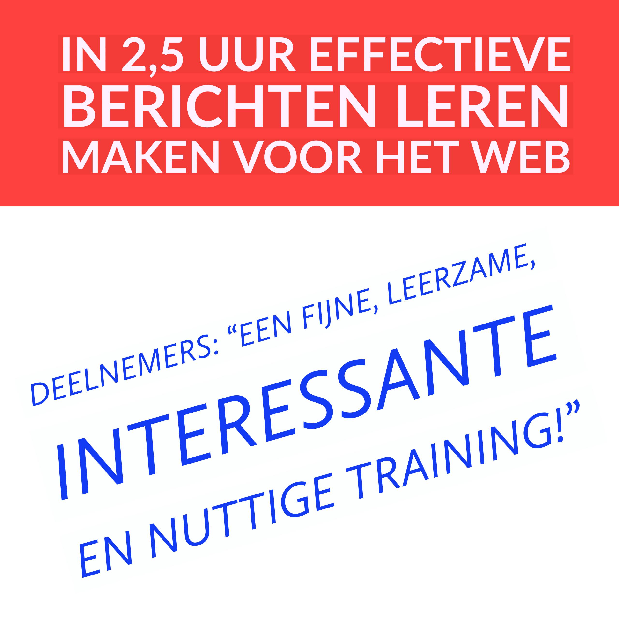 Training effectief schrijven voor het web