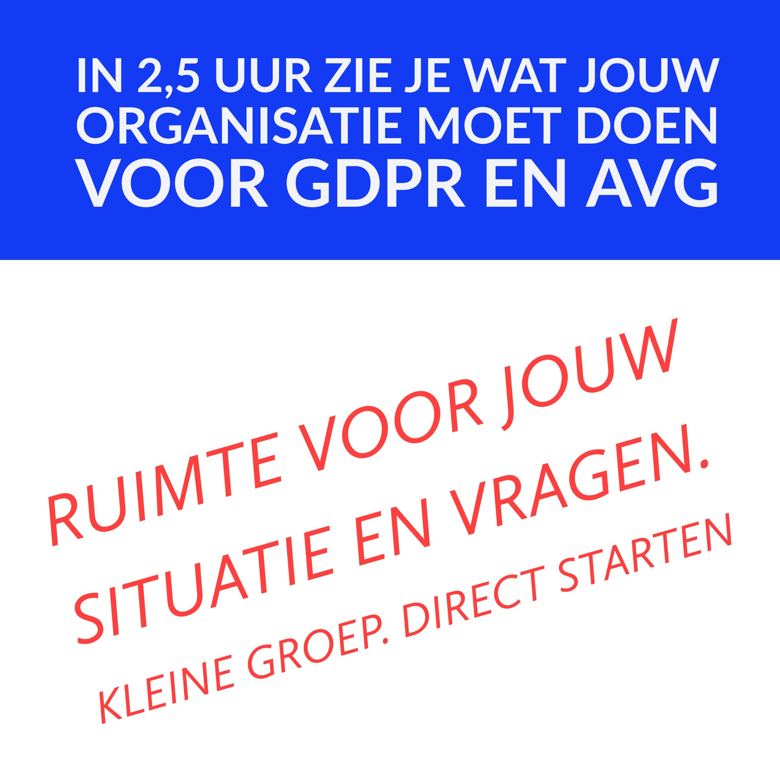 GDPR en AVG workshop. Direct starten voor jouw organisatie
