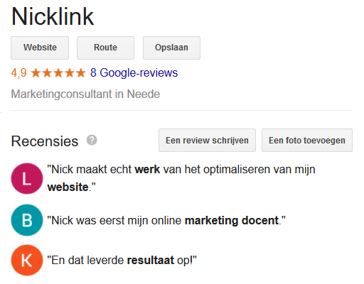 reviews NickLink Google 4,9