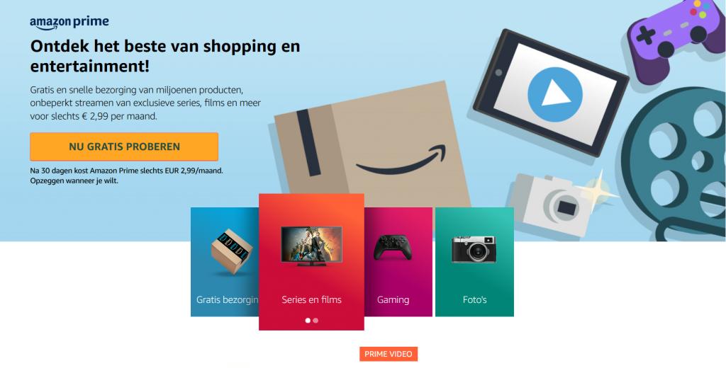 Verzendkosten bepalen webshop, voorbeeld abonnementsmodel Amazon Prime