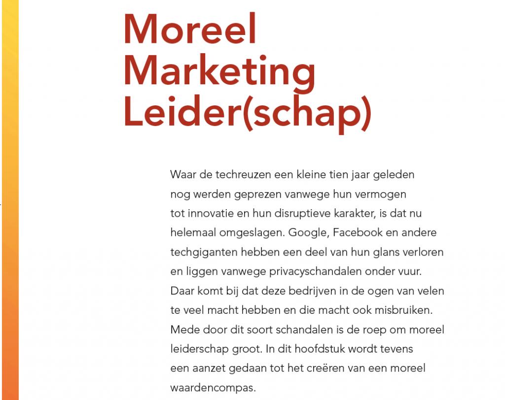 Inleiding Moreel Marketing Leiders(schap) - digitale volwassenheid in Marketingfacts Jaarboek 2021- 2022